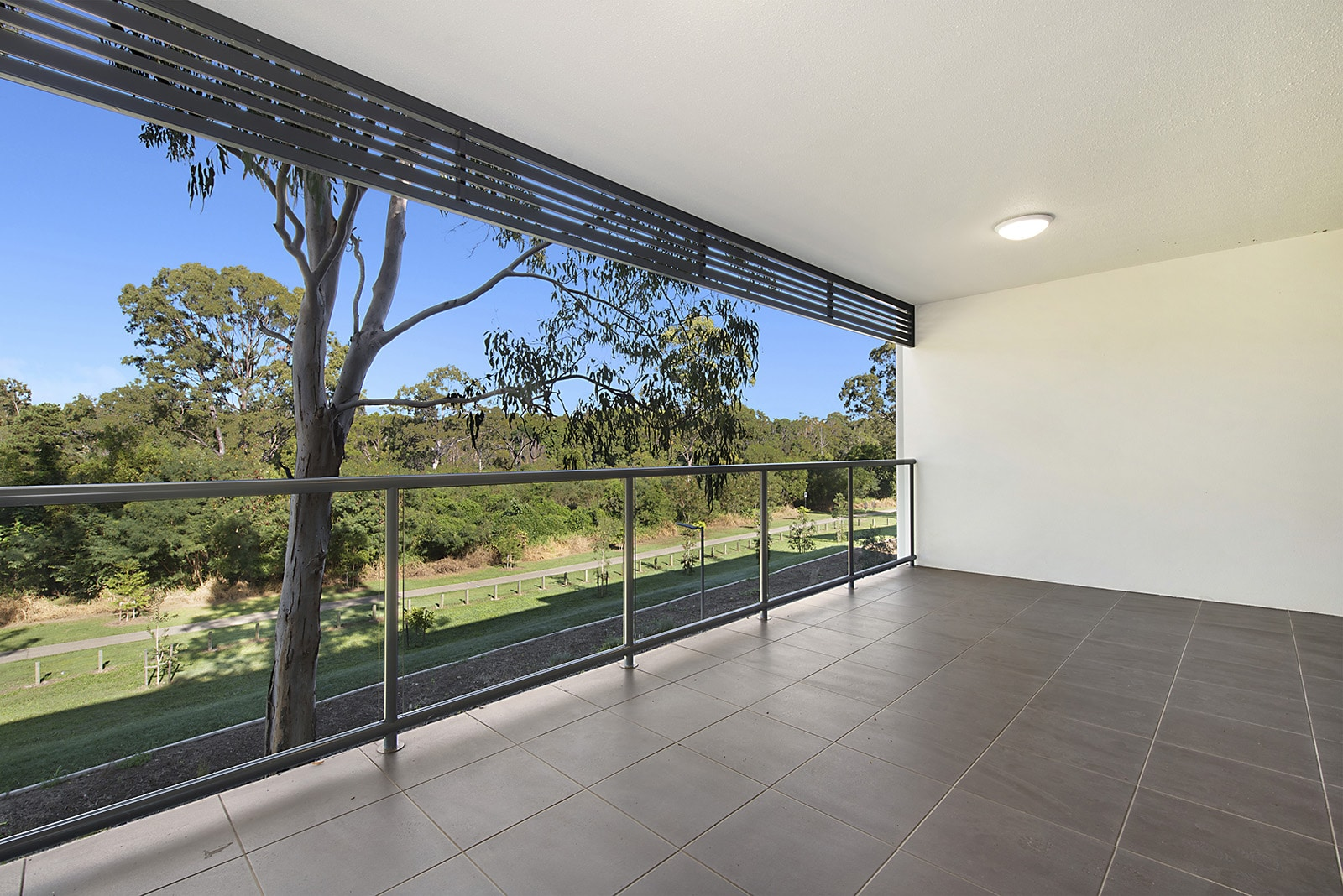 Views from the massive deck on these BRAND NEW 2 BEDROOM LUXURY Petrie APARTMENTS
